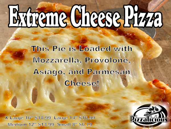 Extreme Cheese Pizza Special