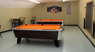 The Pool Room with two tables